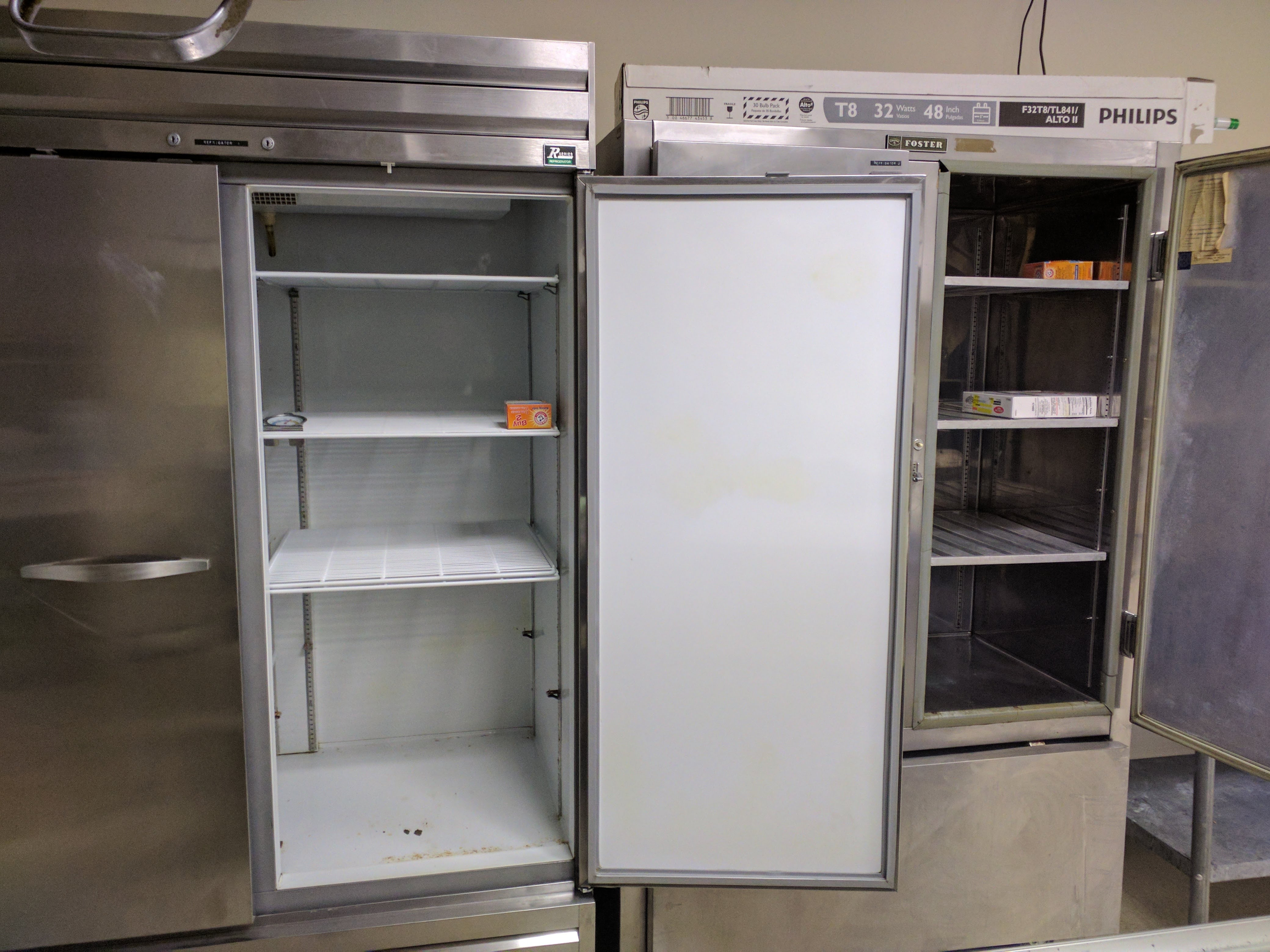 Two industrial refrigerators